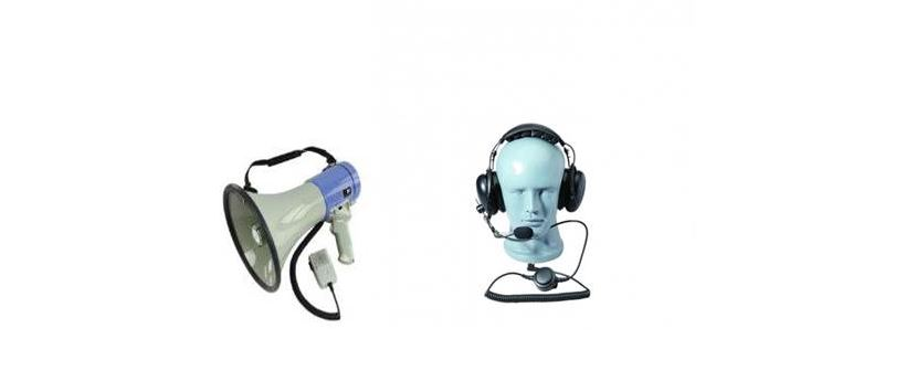 Hire Megaphones and Noise Cancelling Headsets